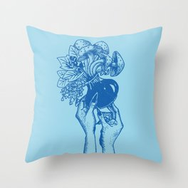 Poisonous witch hands Throw Pillow