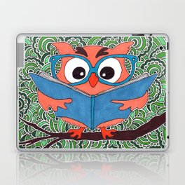 Owl Drawing Meditation Laptop & iPad Skin