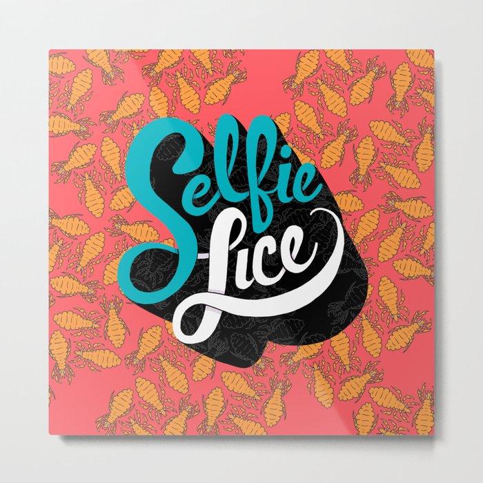 Selfie Lice Metal Print
