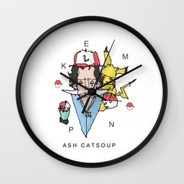 P0kemon Ash Catsoup Wall Clock