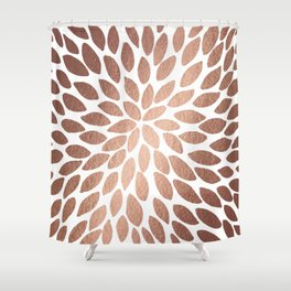 Brush strokes - gold rose Shower Curtain