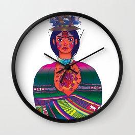 La Cholita: Para Siempre by Soledad Wall Clock