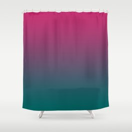 Pink Green Gradient Pattern Shower Curtain