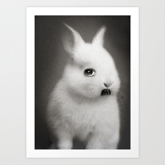 G.W Rabbit Art Print