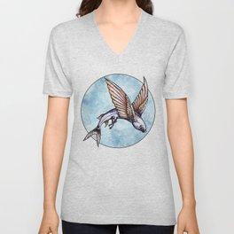 Flying Fish Unisex V-Neck