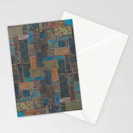 Blue Patina Patchwork 1 Stationery Cards