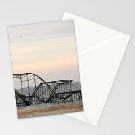 Jet Star Roller Coaster in Ocean After Hurricane Sandy Stationery Cards