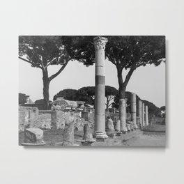 Ostia ruins Rome Italy Metal Print