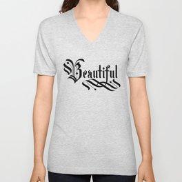 Beautiful Lettering Gothic Unisex V-Neck