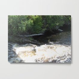 White Water Runs Metal Print