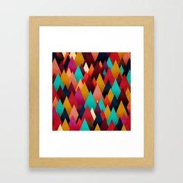 072 – deep into the autumn forest texture III Framed Art Print