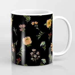 Dark Orange Watercolor Floral Coffee Mug