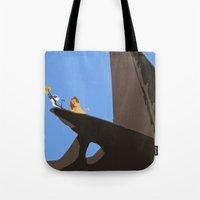 lion king Tote Bags featuring Lion King by TheWonderlander
