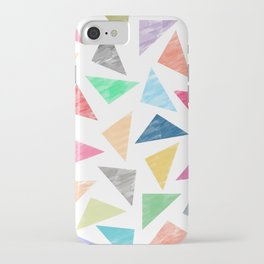 Colorful geometric pattern iPhone Case