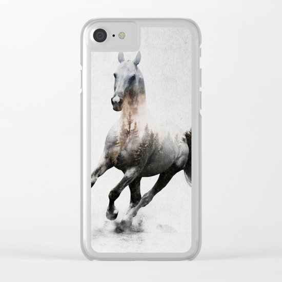 Galloping Horse Clear iPhone Case