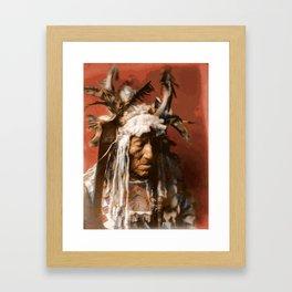 Lean Wolf - Hidatsa - American Indian Framed Art Print