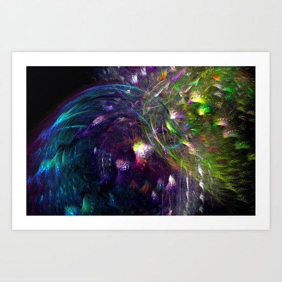 Black Peacocks Art Print