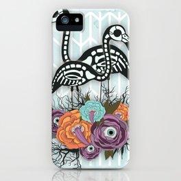 Flamingo Skeleton Halloween Composition iPhone Case