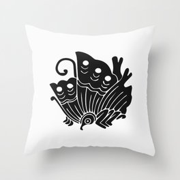 Taira Clan · Black Mon Throw Pillow