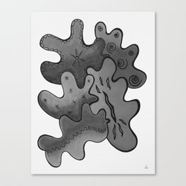 Relaxing Ornamental Spirits. Meditative iFi Art. Stress and Pain Free with MYT3H. Black. White. Canvas Print