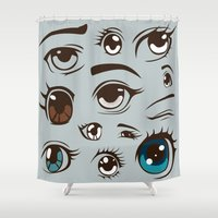anime Shower Curtains featuring Anime by Darish