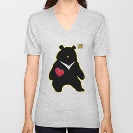 Bear with (V)ictory Unisex V-Neck