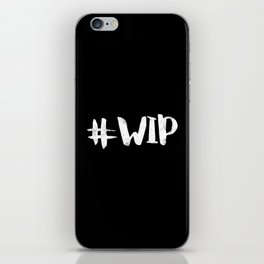 #WIP (White on Black) iPhone Skin