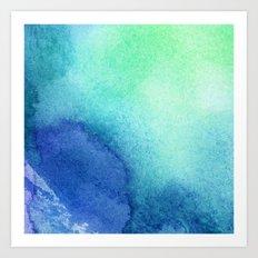 Watercolour Cobalt Blue Art Print