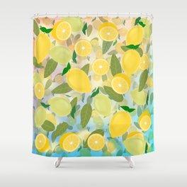 Lemon Song Shower Curtain