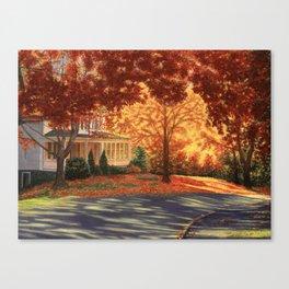 September Walk in Maine Canvas Print