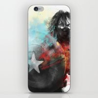 winter soldier iPhone & iPod Skins featuring Winter Soldier by Alba Palacio