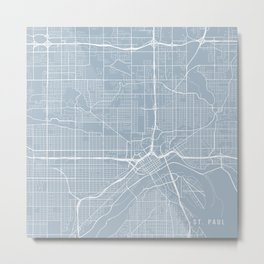 St Paul Map, USA - Slate Metal Print