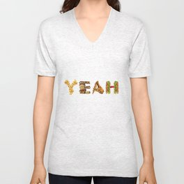 Fast Food Typography  Unisex V-Neck