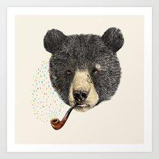 BLACK BEAR SAILOR Art Print