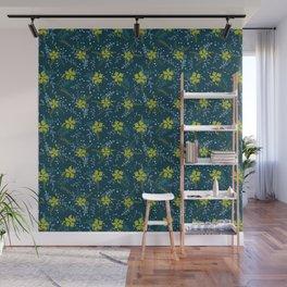 Bouquet of Flowers with Dots, Rings and Spirals Wall Mural