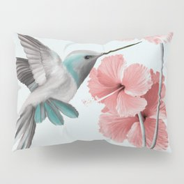 Hummingbird with Hibiscus Pillow Sham