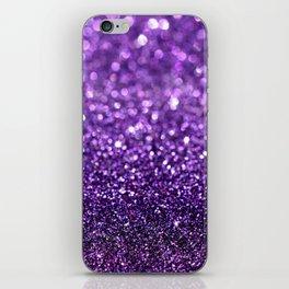 purple glitter I iPhone Skin