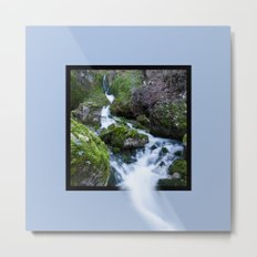 Waterfall Susec with 3D pop out of frame effect Metal Print