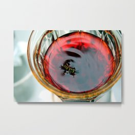 Drowning in Sangria Metal Print