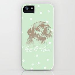 Pugs & Kisses iPhone Case