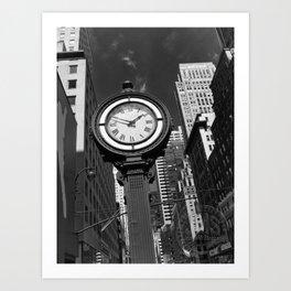 Seth Thomas Clock Fifth Avenue Art Print