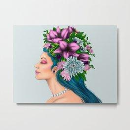 Flower Girl Metal Print