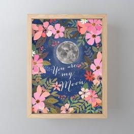 You are my moon Framed Mini Art Print