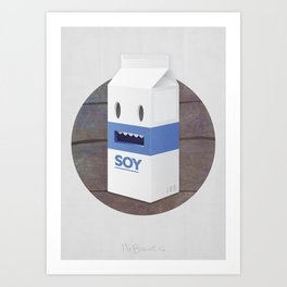 Soy Milk Art Print