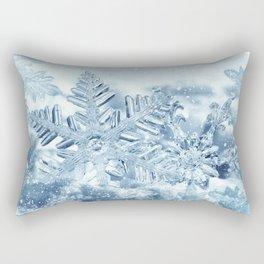 Snowflake Crystals Rectangular Pillow