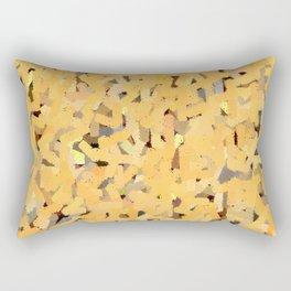 Yellow Embossed Chalk Rectangular Pillow