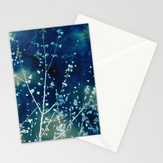 Scattered Spring Cyanatope Stationery Cards