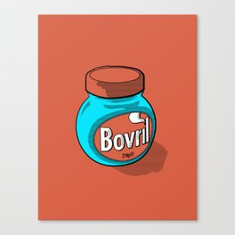 Bovril dreams in tangerine Canvas Print