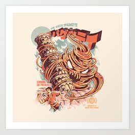 The Kaiju Spaghetti Art Print