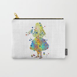 Drink Me - Alice In Wonderland - Watercolor Art Carry-All Pouch